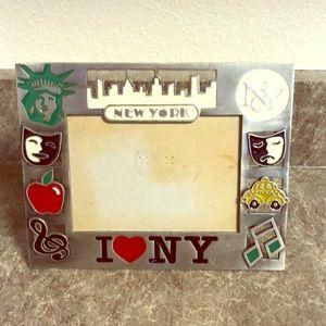 Jay Joshua I love NY metal picture frame
